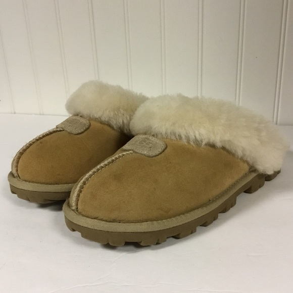 055dc3890ce UGG Australia Coquette Fur Lined Leather Slippers